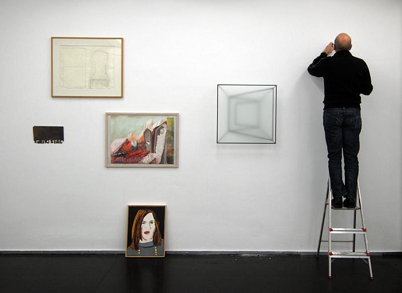 Wetering Galerie - Reinoud Oudshoorn hangt