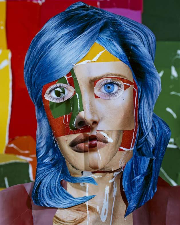 portrait with blue hair 2013 c daniel gordon