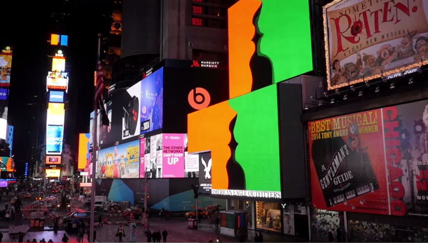 Rafaël Rozendaal @ Times Square, New York