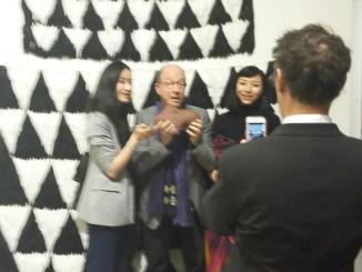 Jerry Saltz at Independent Artfair, NYC