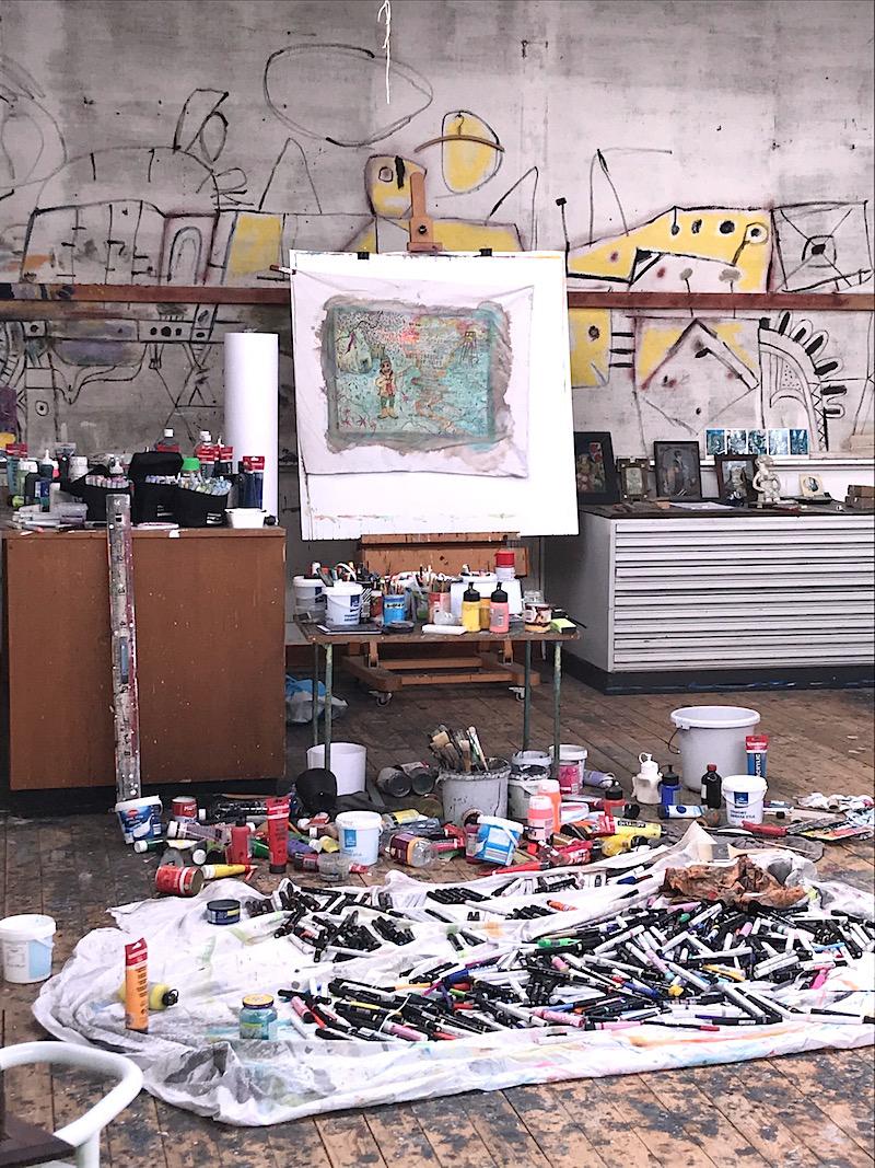 Atelier Sebastiaan Schlicher in Luceberthuis, Bergen