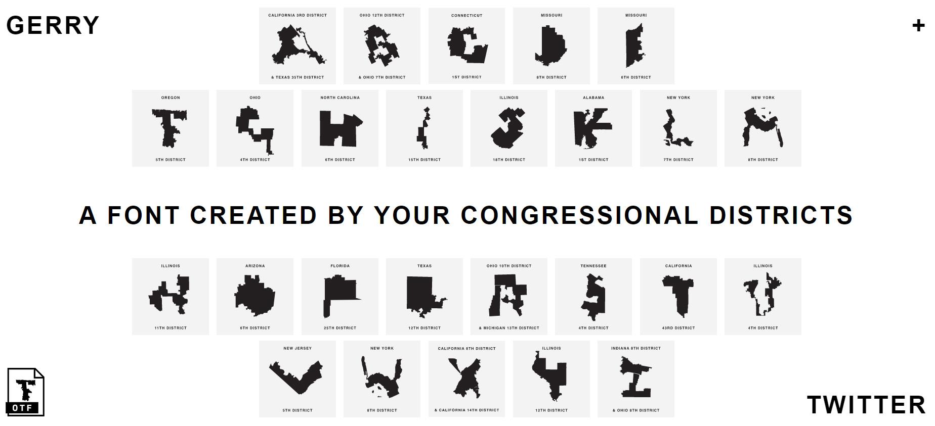 Verkiezingsfraude als lettertype
