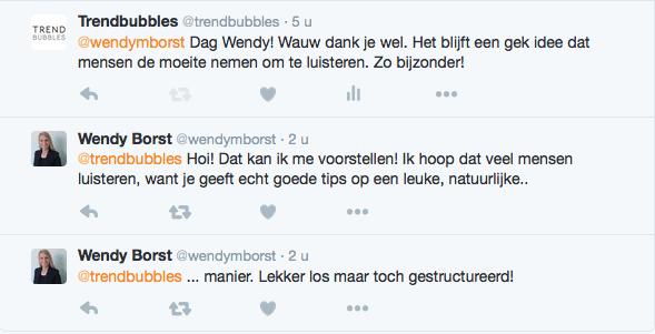Wendy Borst over de Trendbubbles Podcast Show | Trendbubbles.nl