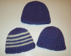 Crochet Baby Hats Patterns Ba Ribbed Band Hats My Recycled Bags
