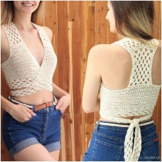Crochet Bikini Top Pattern 2019 Handmade Crochet Top Pattern Womens Swimwear Hollow Halter