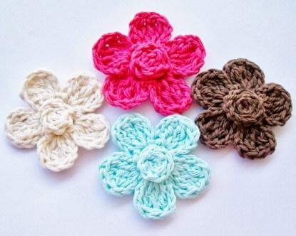 Crochet Flower Patterns Free Flower Girl Cottage Free Crochet Flower Pattern