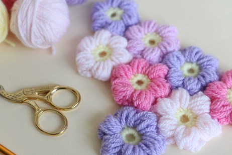 Crochet Flower Patterns Free Puff Flower Free Pattern Bella Coco Crochet