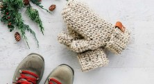 Crochet Mitten Patterns 3 Hour Easy Pattern For Crochet Mittens In One Piece Knit And