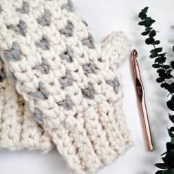 Crochet Mitten Patterns A Fair Isle Mitten Crochet Pattern That Will Keep Your Hands Toasty