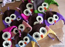 Crochet Owl Hat Pattern Crochet Owl Hats For Kids Christmas Gifts For 2014 Akamatra