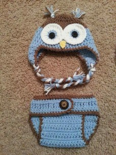 Crochet Owl Hat Pattern Hat And Diaper Cover Pattern Set Photo Prop Ba Rhluullacom Free S