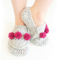Crochet Sneaker Pattern Mini Pom Pom Slippers Crochet Pattern Stitch11