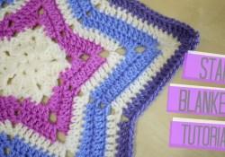 Crochet Star Afghan Pattern Crochet Star Blanket Bella Coco Youtube