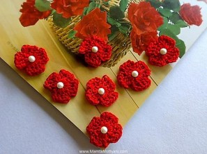 Easy Crochet Flower Pattern Four Petals Crochet Flower Pattern Easy Crochet Applique Patterns