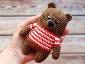Easy Crochet Teddy Bear Pattern Amigurumi Pattern Crochet Bear Pattern Crochet Teddy Bear Etsy