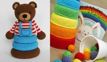 Easy Crochet Teddy Bear Pattern Stacking Toys Free Patterns Your Crochet