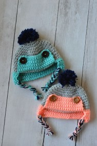 Free Crochet Patterns For Baby Hats Crochet Ba Trapper Hat Free Crochet Pattern Whistle And Ivy