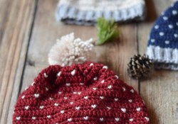 Free Crochet Patterns For Baby Hats Crochet Snowfall Hat Size Ba To Adult Free Crochet Pattern