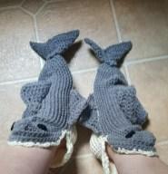 Shark Socks Crochet Pattern Shark Slipper Socks