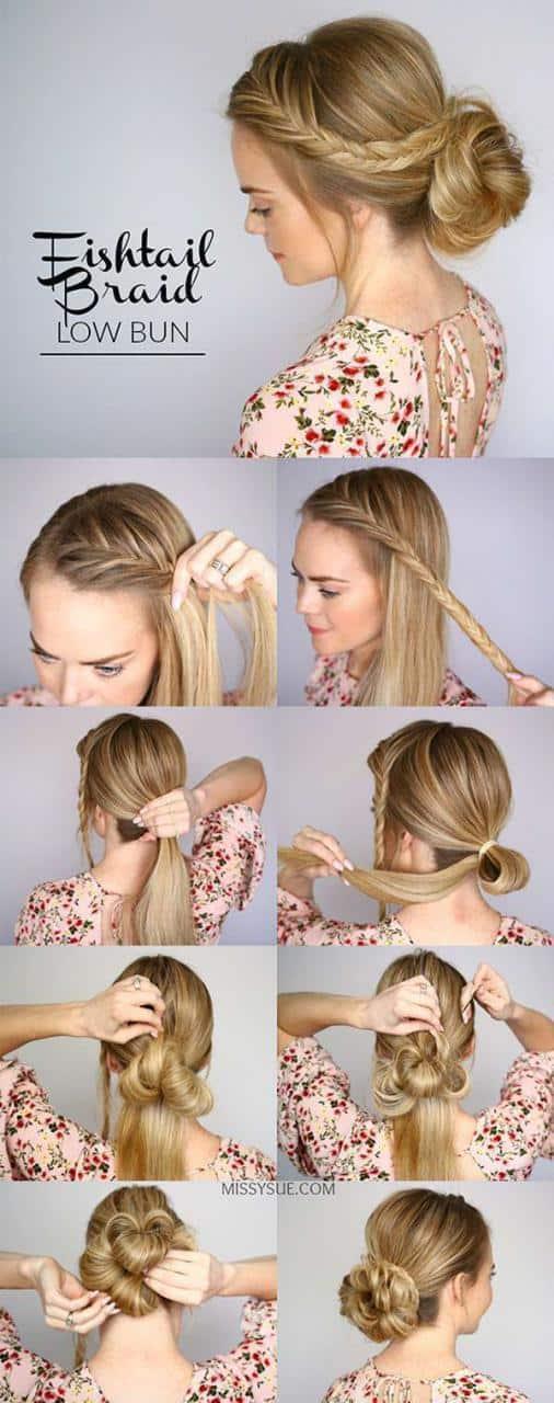 Create braided bun hairstyles instatntly