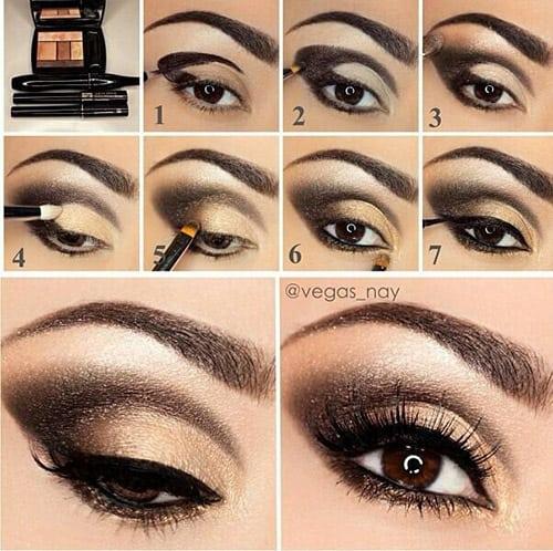 Golden Smokey Eye Makeup Tutorial