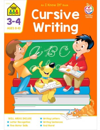 Cursive workbooks were trending: School Zone
