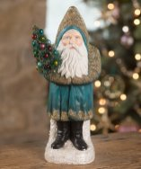 Santa dressed in teal at Bethany Lowe