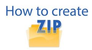 How to Creat Zip Files Extensions