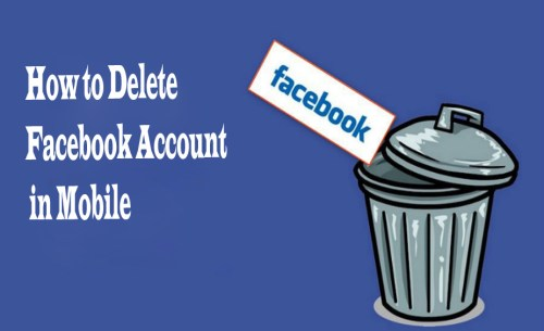 How to Delete Facebook Account in Mobile