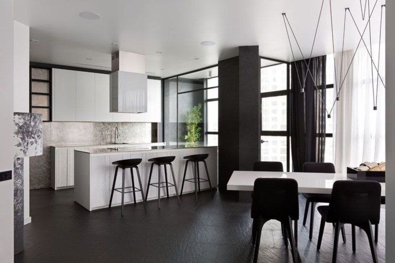 A Beautiful All White Apartment In Modern Style 09