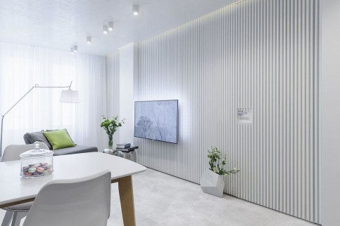 A Beautiful All White Apartment In Modern Style 16