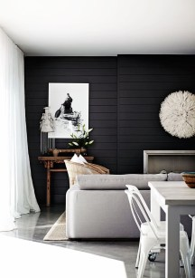 Best Home Office Ideas With Black Walls 08