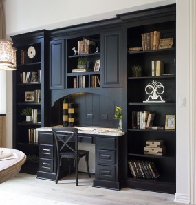 Best Home Office Ideas With Black Walls 16
