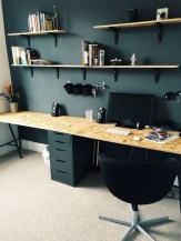 Best Home Office Ideas With Black Walls 18