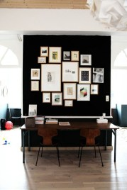 Best Home Office Ideas With Black Walls 24