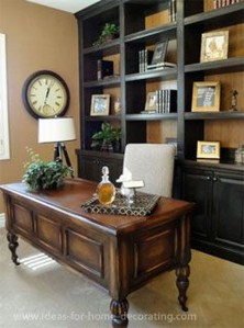 Best Home Office Ideas With Black Walls 27
