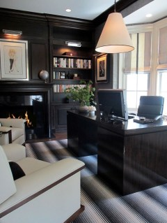 Best Home Office Ideas With Black Walls 39