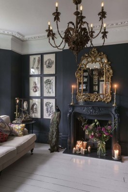 Best Living Room Ideas With Black Walls 16