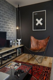 Best Living Room Ideas With Black Walls 31