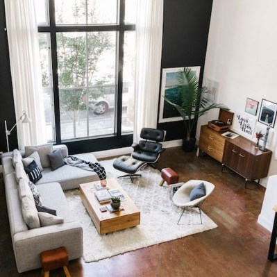 Best Living Room Ideas With Black Walls 33