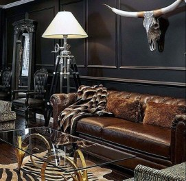 Best Living Room Ideas With Black Walls 37