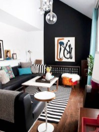 Best Living Room Ideas With Black Walls 38