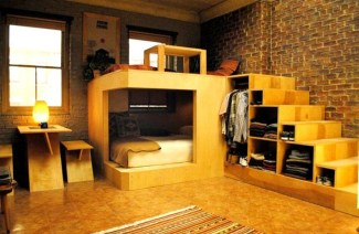 Contemporary Micro Apartment Organized With Boxes 38