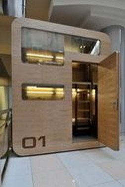 Contemporary Micro Apartment Organized With Boxes 40
