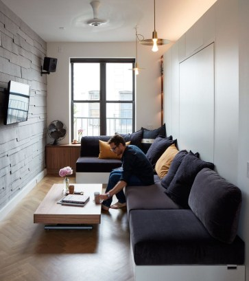 Contemporary Micro Apartment Organized With Boxes 42