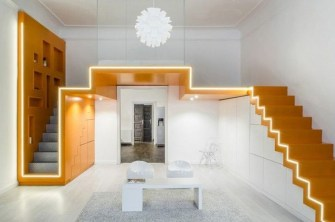 Minimalist Micro Apartment With A Hint Of Color 15
