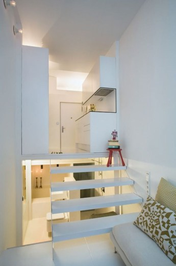 Minimalist Micro Apartment With A Hint Of Color 17