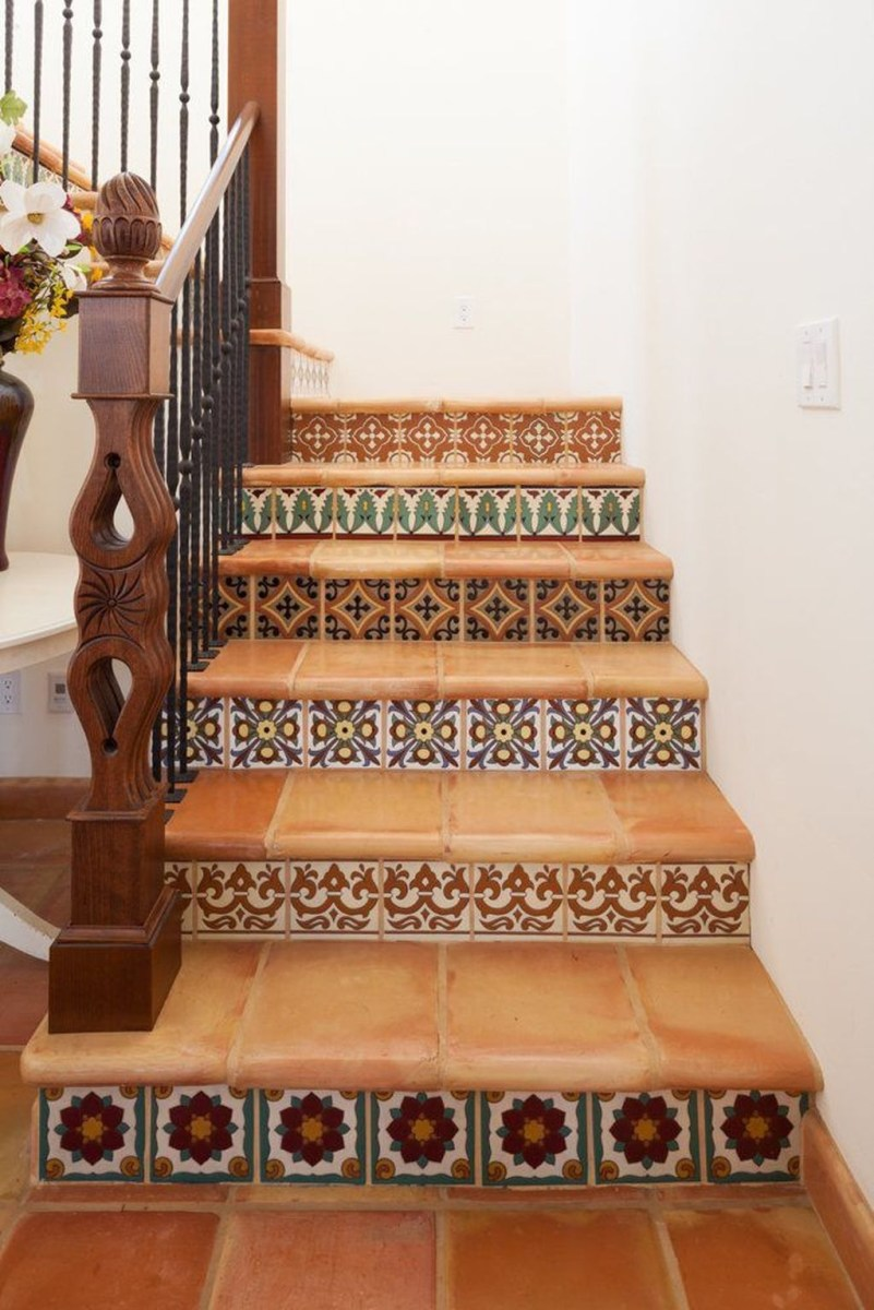 Beautiful Tiled Stairs Designs For Your House 48