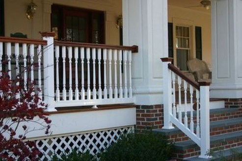 Wood Railing Ideas For Your House Style 08