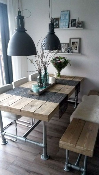 Amazing Farmhouse Kitchen Tables Ideas 54